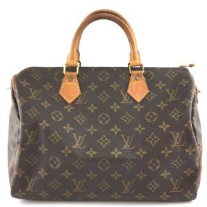 Louis Vuitton Speedy 30 Boston Brown Hand Satchel